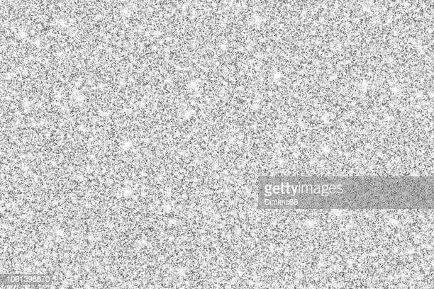 Silver glitter shiny vector background