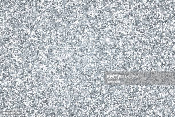 silver glitter vector background - silver metal stock illustrations