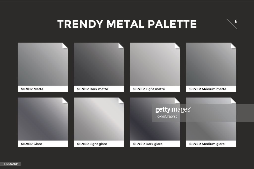 Silver gradient template, vector icon
