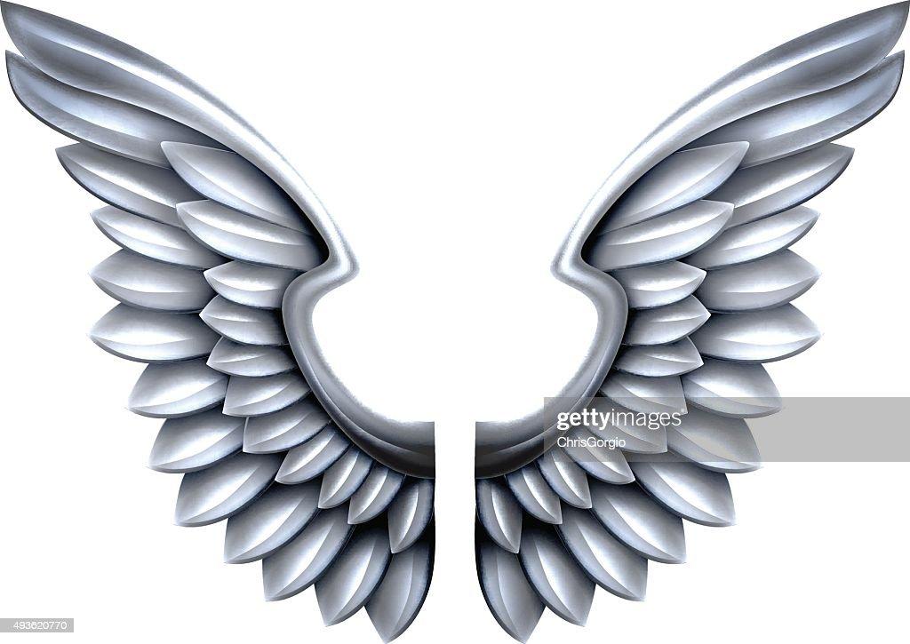 Silver Metal Wings
