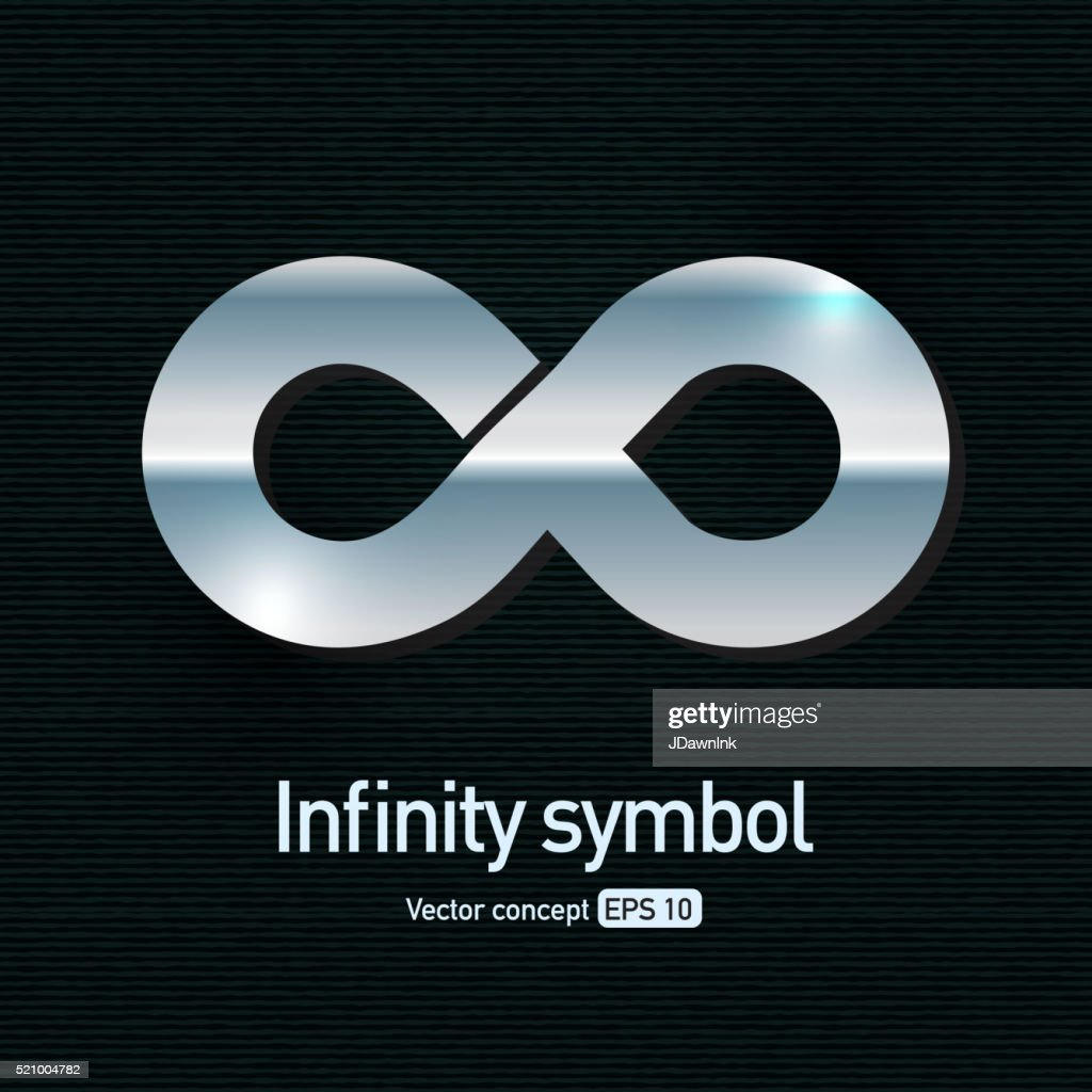 Silver Metallic Infinity Symbol Icon Vector Art Getty Images