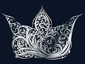 Silver ornated crown