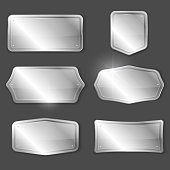 Silver plaques or plates