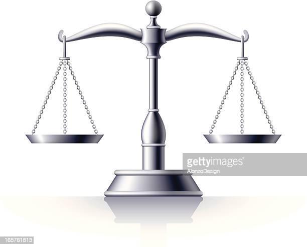 ilustraciones, imágenes clip art, dibujos animados e iconos de stock de plata escala de justicia - balanzas de la justicia