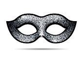 Silver shining carnival mask