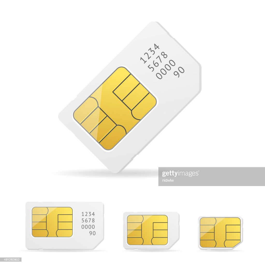 Sim Card Set. Vector