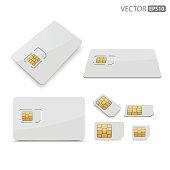 Sim card.vector