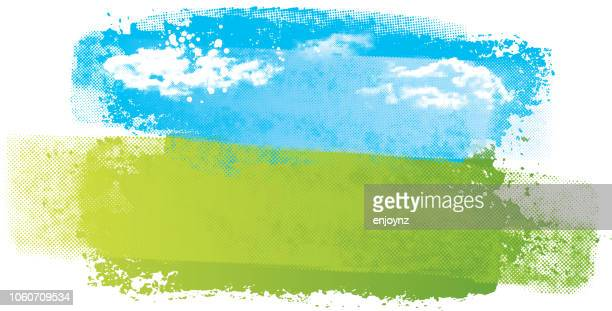 simple abstract landscape - sport stock illustrations