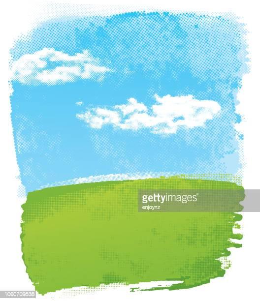 単純な抽象的な風景 - 縦位置点のイラスト素材/クリップアート素材/マンガ素材/アイコン素材