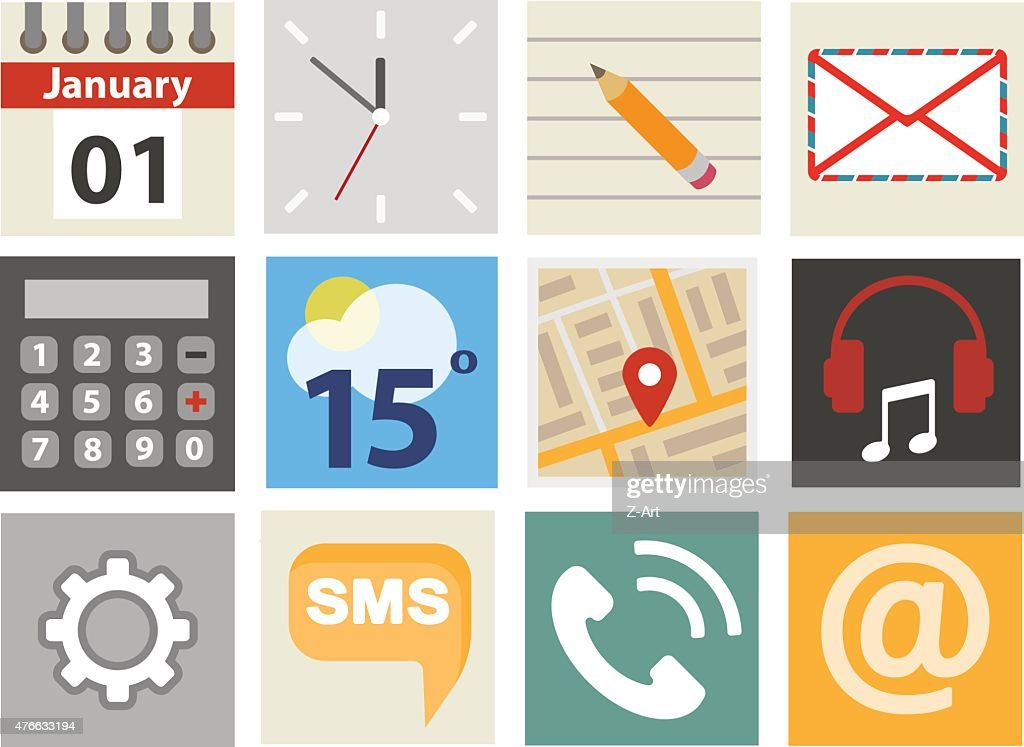Simple and expressive icons. 10 eps