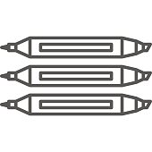 Simple artistic and hobby Vector line art Icon. Set of three different markers. line art style icon. 48x48 Pixel Perfect.