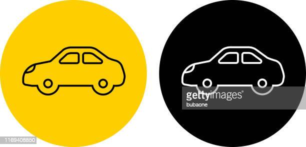 simple automobile icon - domestic car stock illustrations, clip art, cartoons, & icons
