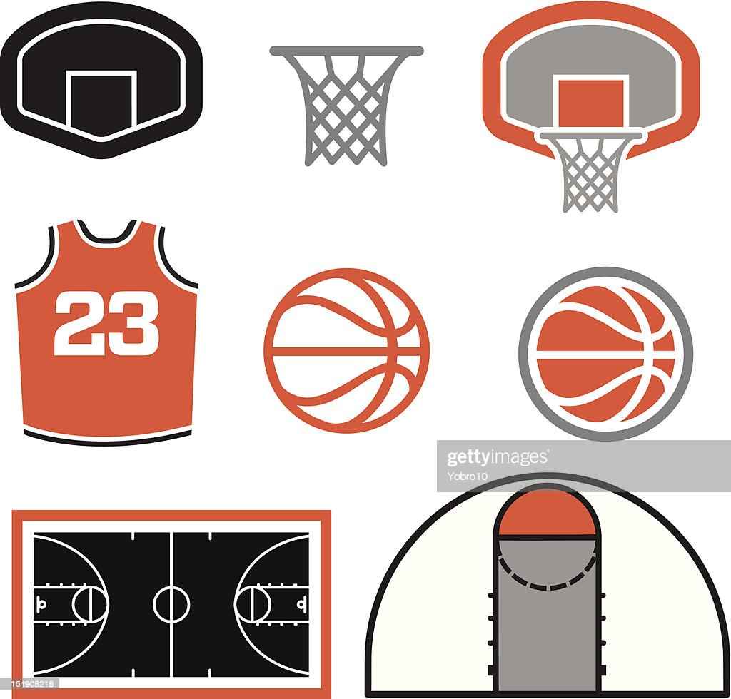 Simple Basketball Vector Elements