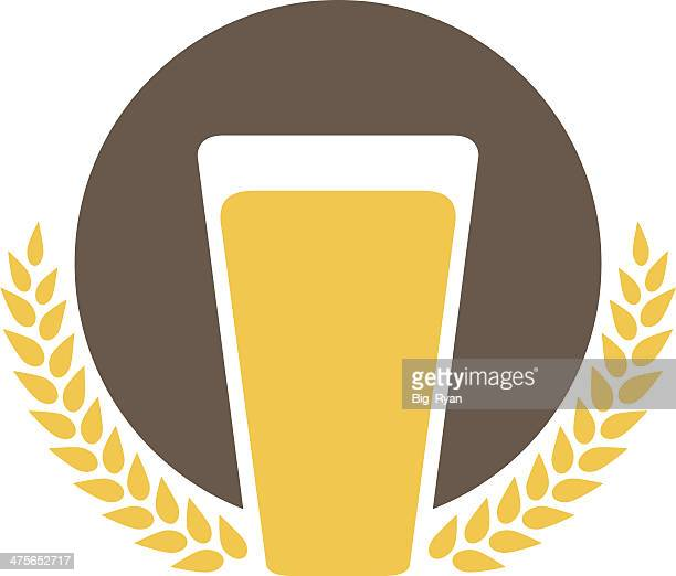simple beer logo - beer glass stock illustrations, clip art, cartoons, & icons