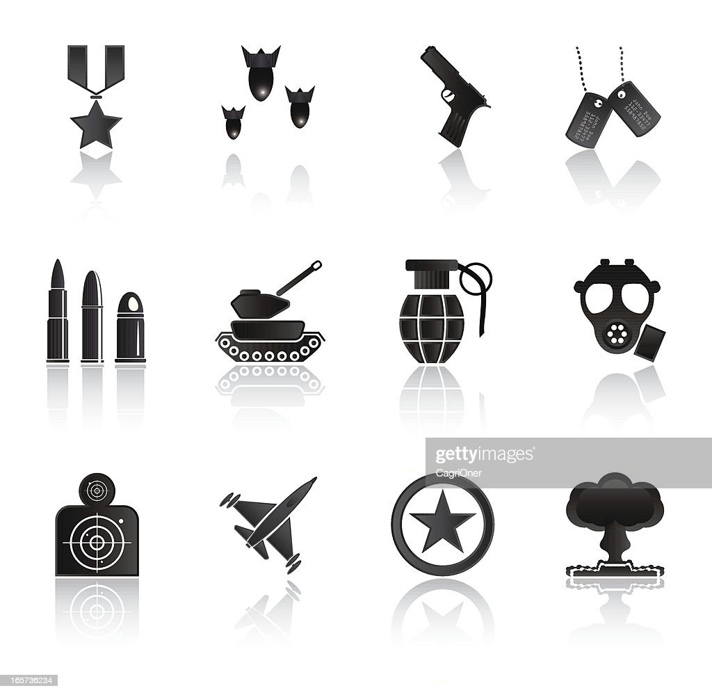 Simple Black Icons: Military and Warfare