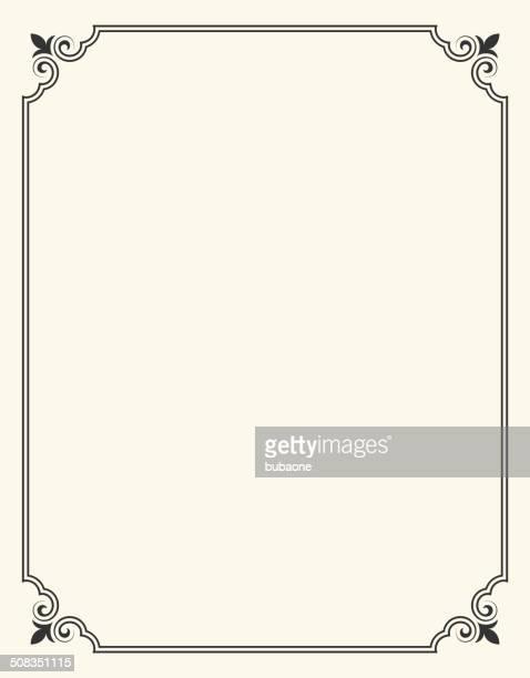 illustrations, cliparts, dessins animés et icônes de simple cadre blanc avec fleur de lis - fleur de lys