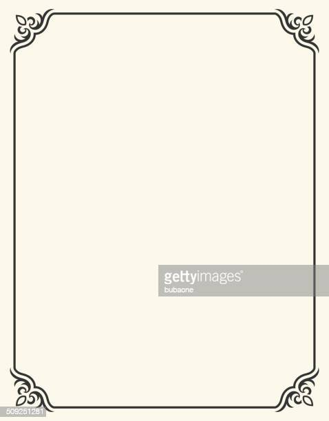 simple blank frame with fleur de lis - at the edge of stock illustrations