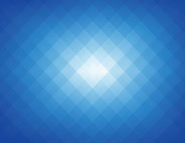 Simple Blue Pixels Background Wall Art