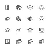 Simple Building House Icons