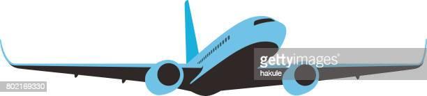 illustrations, cliparts, dessins animés et icônes de conception plate d'entreprise simple avion, illustration vectorielle - catastrophe aérienne