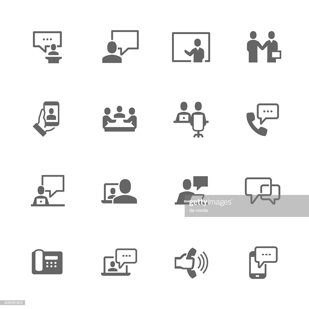 Simple Business Communication Icons