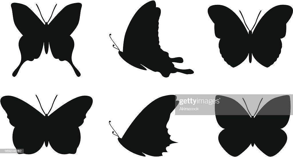 Simple butterfly shapes