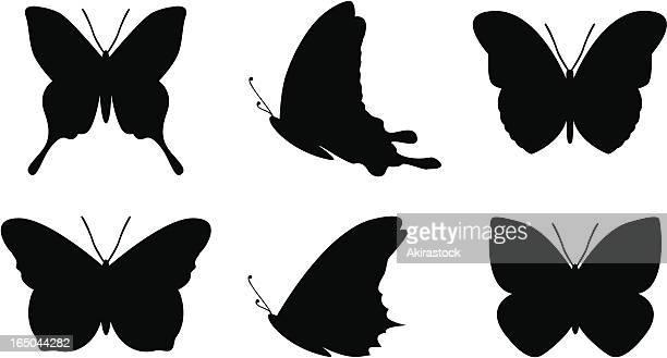 ilustrações, clipart, desenhos animados e ícones de borboleta formas simples - borboleta