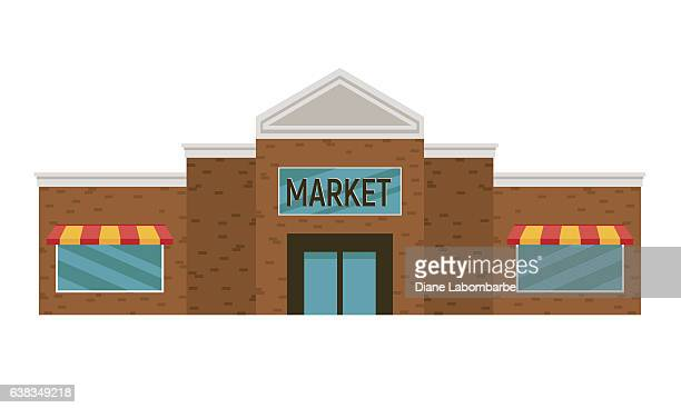 Simple Cartoon Grocery Store