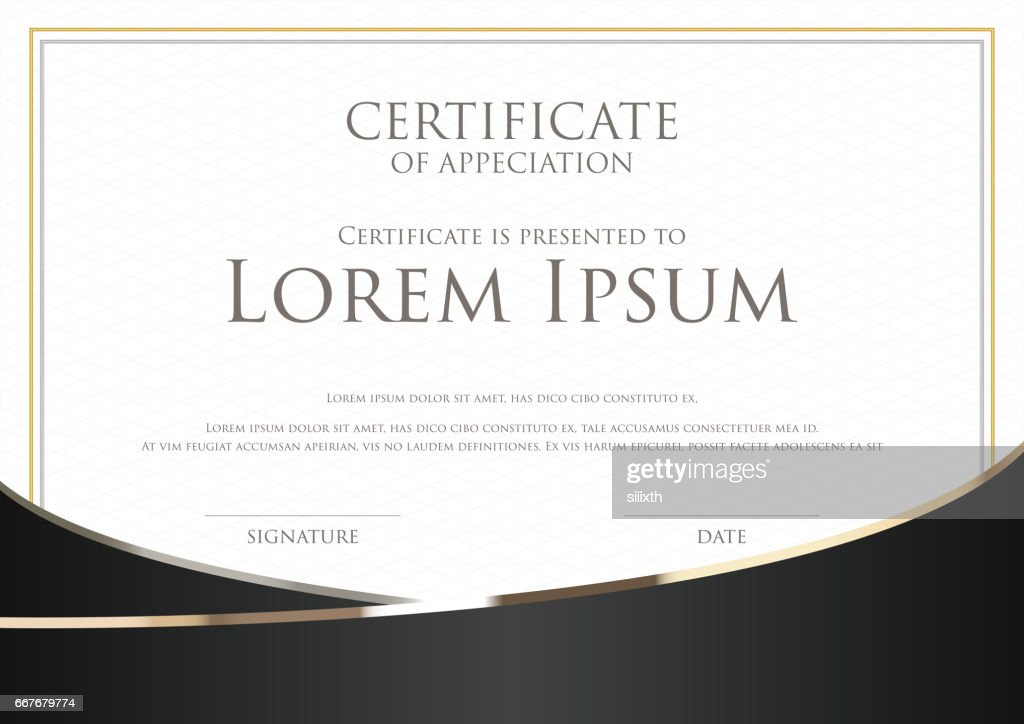 Simple certificate card template with gold badge vector art getty simple certificate card template with gold badge vector art yelopaper Gallery