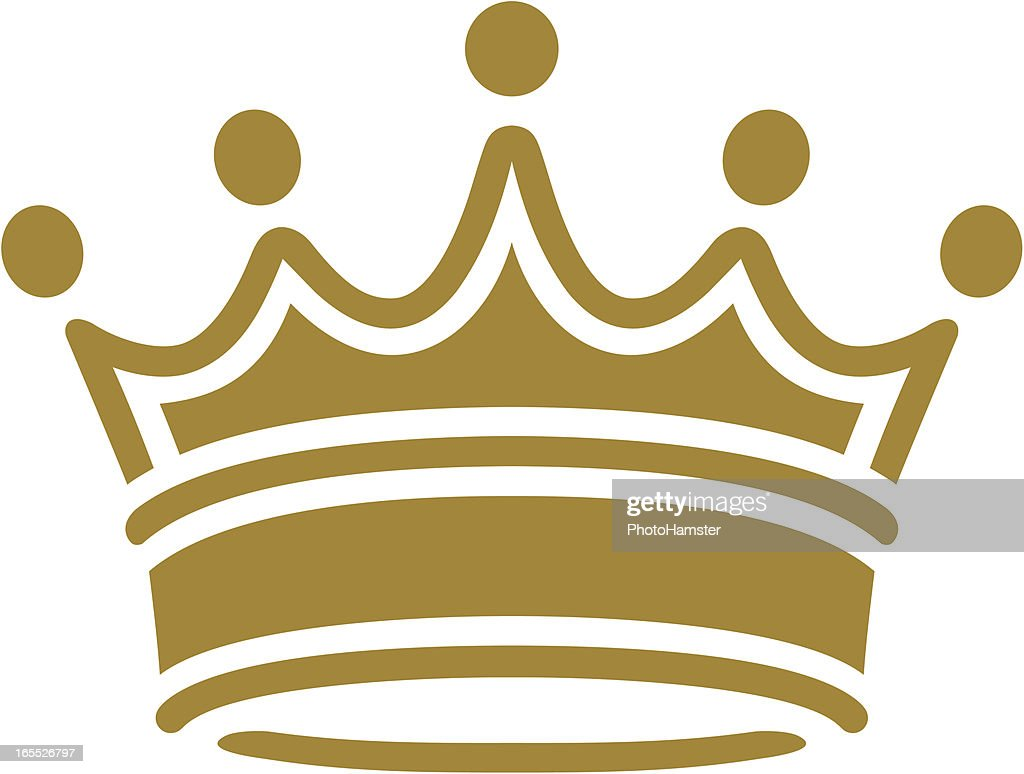 simple classic crown vector art getty images rh gettyimages com crown vector clipart crown vector free