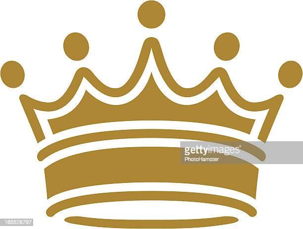 ilustraciones, imágenes clip art, dibujos animados e iconos de stock de simple clásico corona - corona
