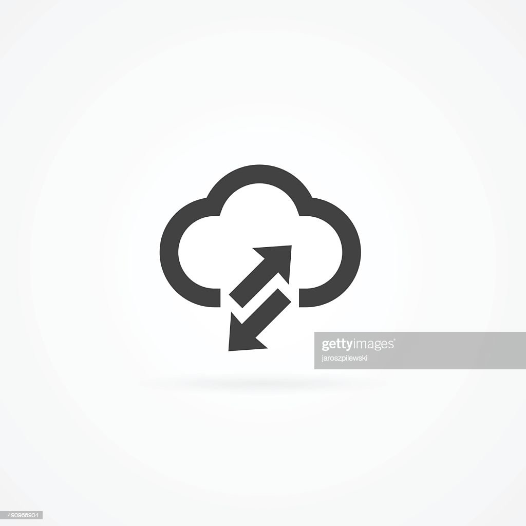 Simple cloud computing icon.