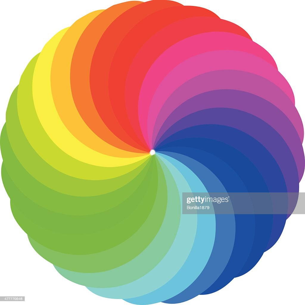 Simple color wheels vector