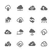 Simple Computer Cloud Icons