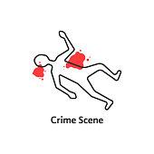 simple crime scene icon isolated on white background