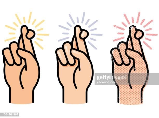 Simple crossed fingers vector