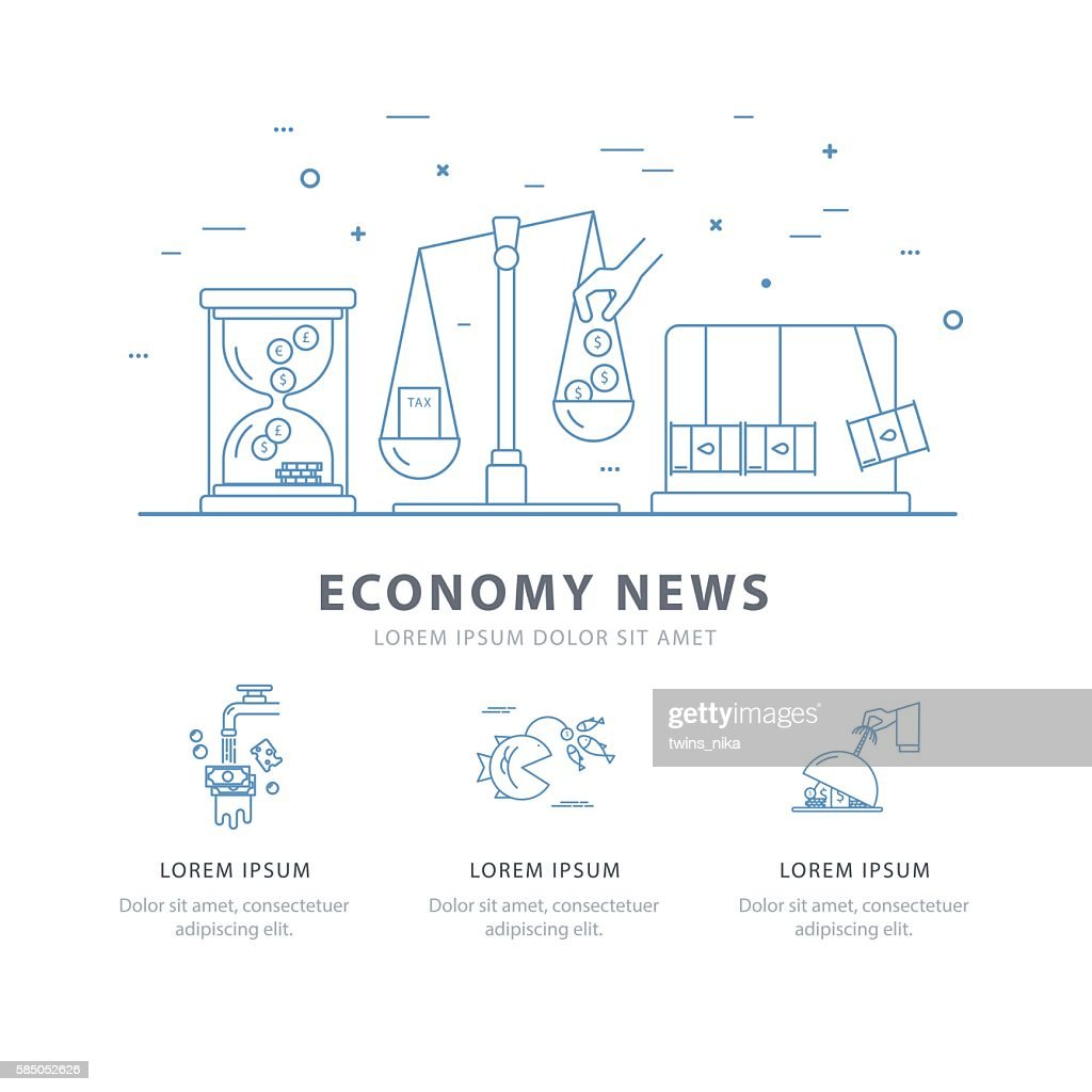 Simple design templates for economy news.