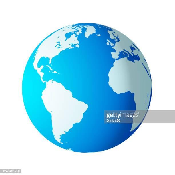 アメリカ、ヨーロッパ、アフリカが目に見えるシンプルな地球儀。 - 地球点のイラスト素材/クリップアート素材/マンガ素材/アイコン素材