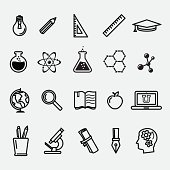 Simple education and science icons