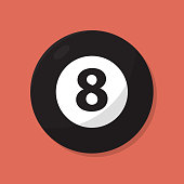 Simple Eight Ball Icon