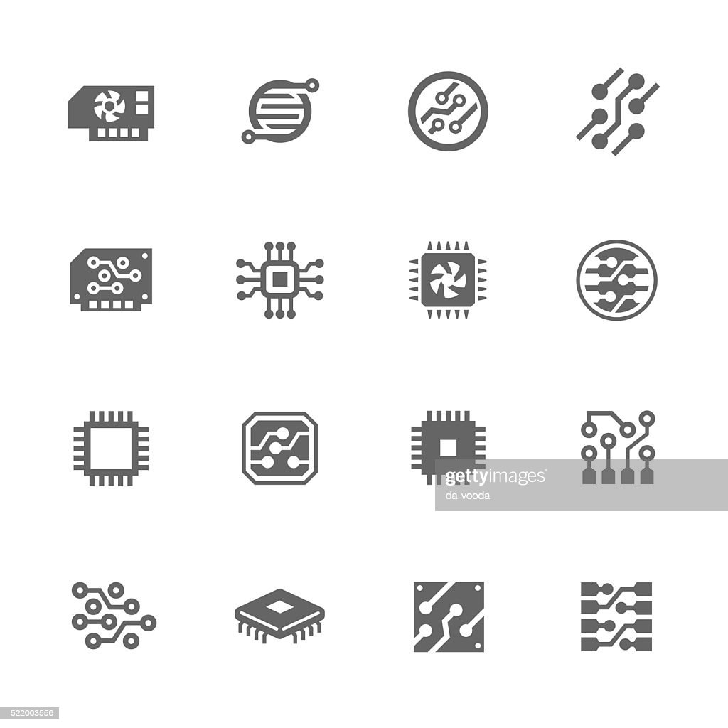 Simple Electronics icons