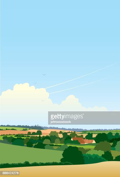 Simple English landscape illustration