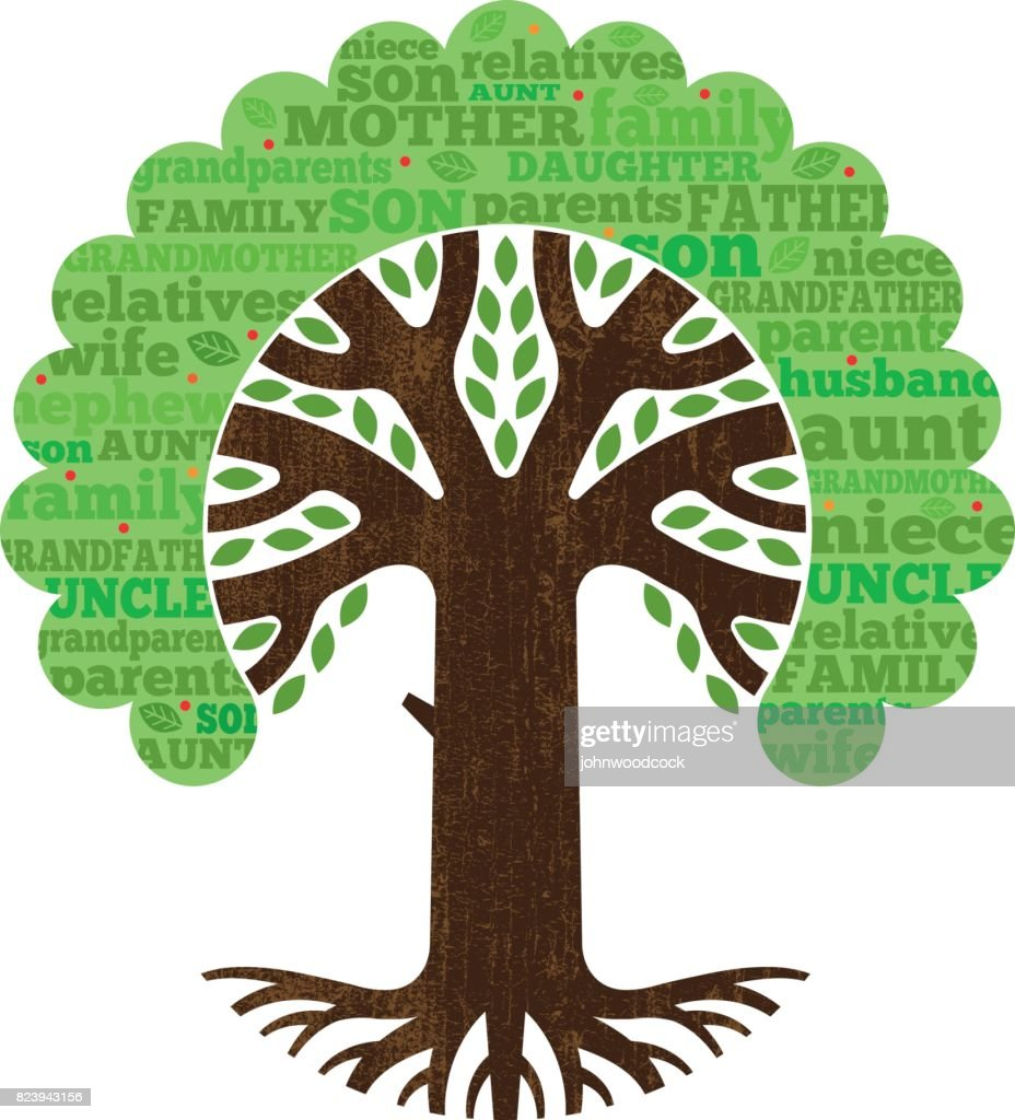 simple family tree vector illustration vector art getty images