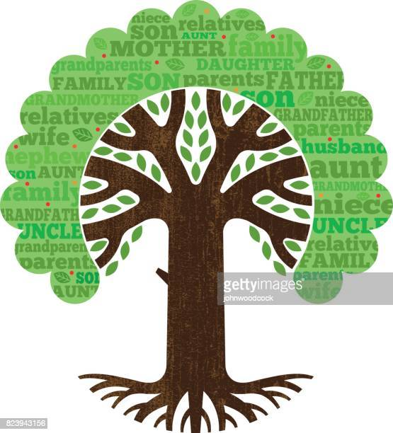 Simple family tree vector illustration