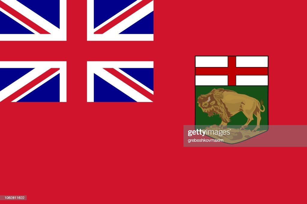 Simple flag province of Canada