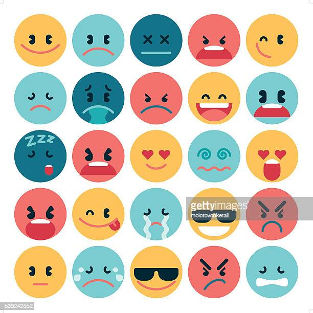 simple flat emoji - anger stock illustrations