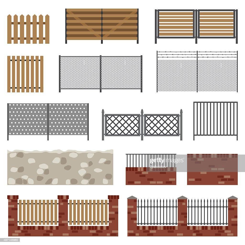Simple flat fences.