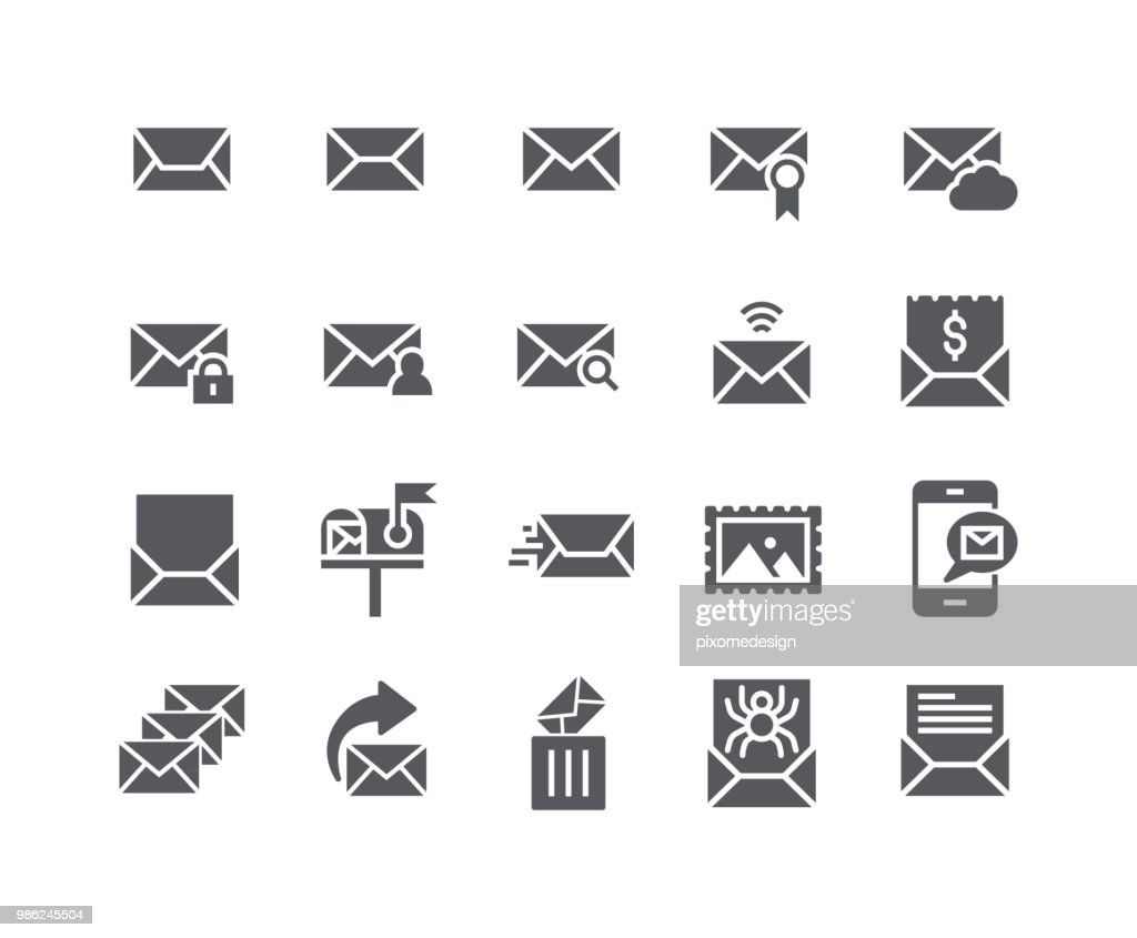 Simple flat high quality vector icon set,Contains such Icons as Newsletter, Spam, Private, Mail Box, Address Book and more..48x48 Pixel Perfect.