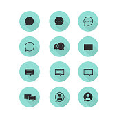 Simple Flat Message Icon set