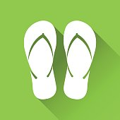 Simple flip flop icon, travel and holiday symbol, modern flat style icon, vector illustration